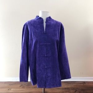 Vintage Chico's Purple Leather Jacket